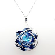 Collier Marazzini Flower new blue