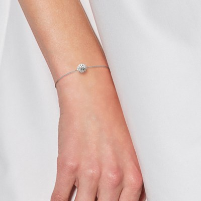 Bracelet 'Pure WHITE' - Véritable Crystal Blanc - STELLA - Collection LOVE JEWELRY - vue V2