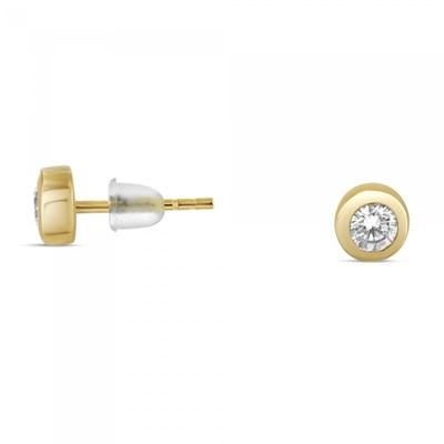 Boucles d/'oreilles Plaqué Or 18 carats Perle et Oxyde de Zirconium