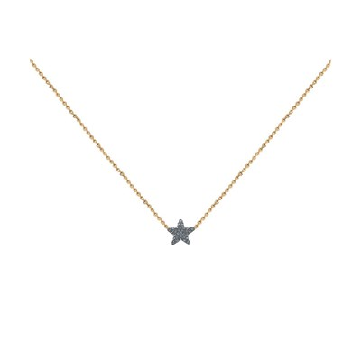Collier doré KUCHI STAR Night - vue V1