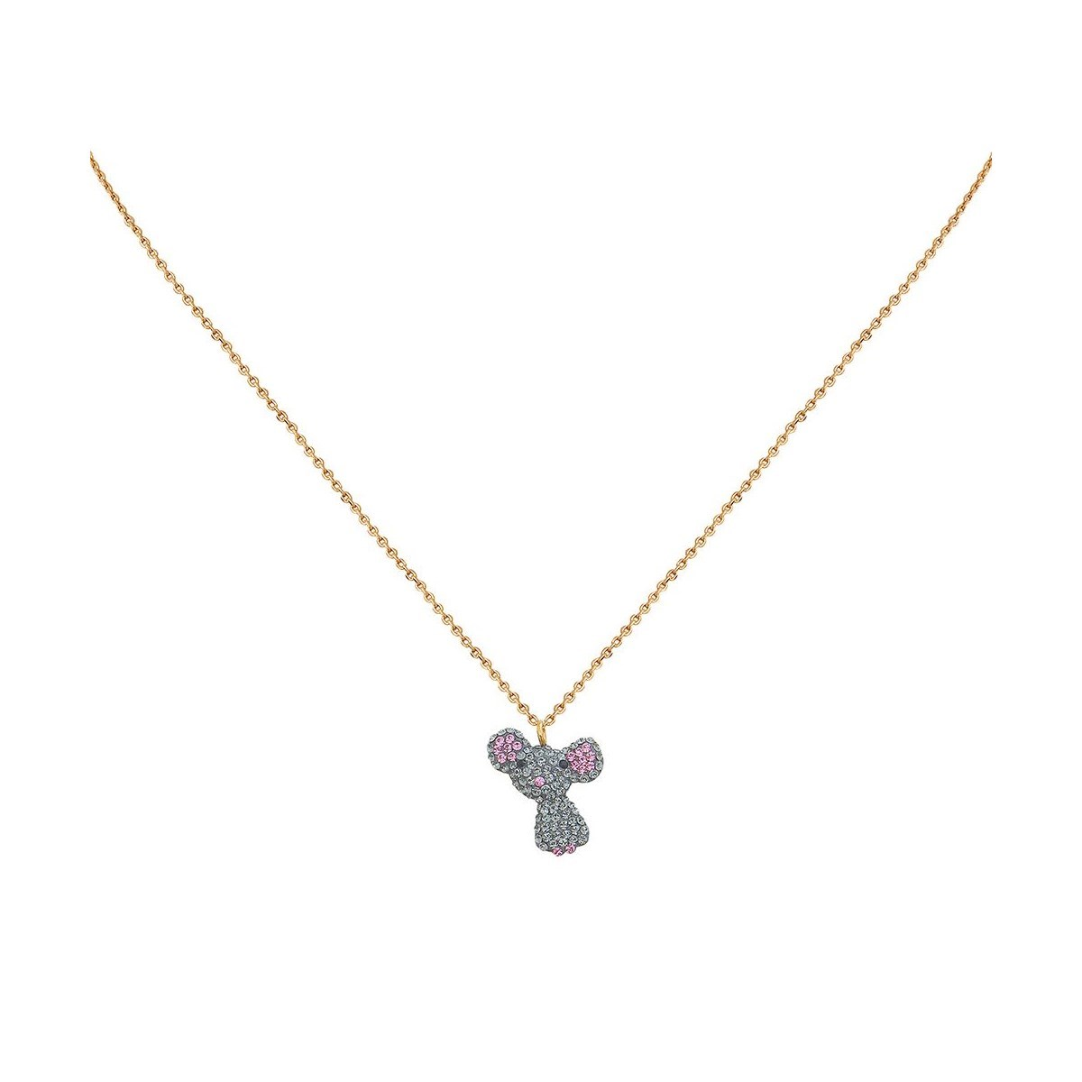 Collier doré KUCHI Mouse Kawaii - vue V1