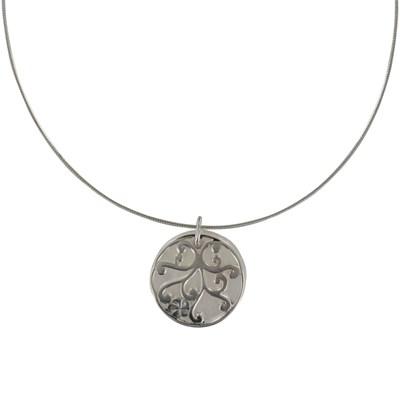 collier argent arabesque