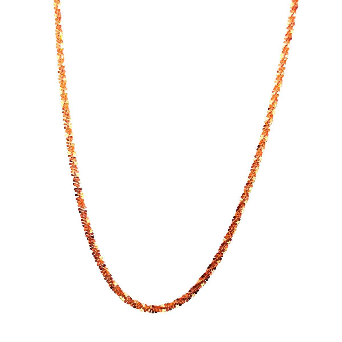 Collier Elden argent 925/1000 1 rang orange collection Catch the Rainbow