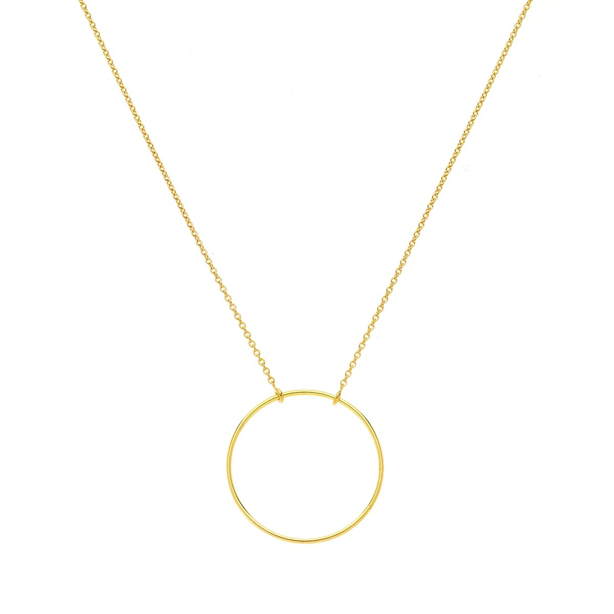 Collier cercle or jaune 18 carats 20 mm