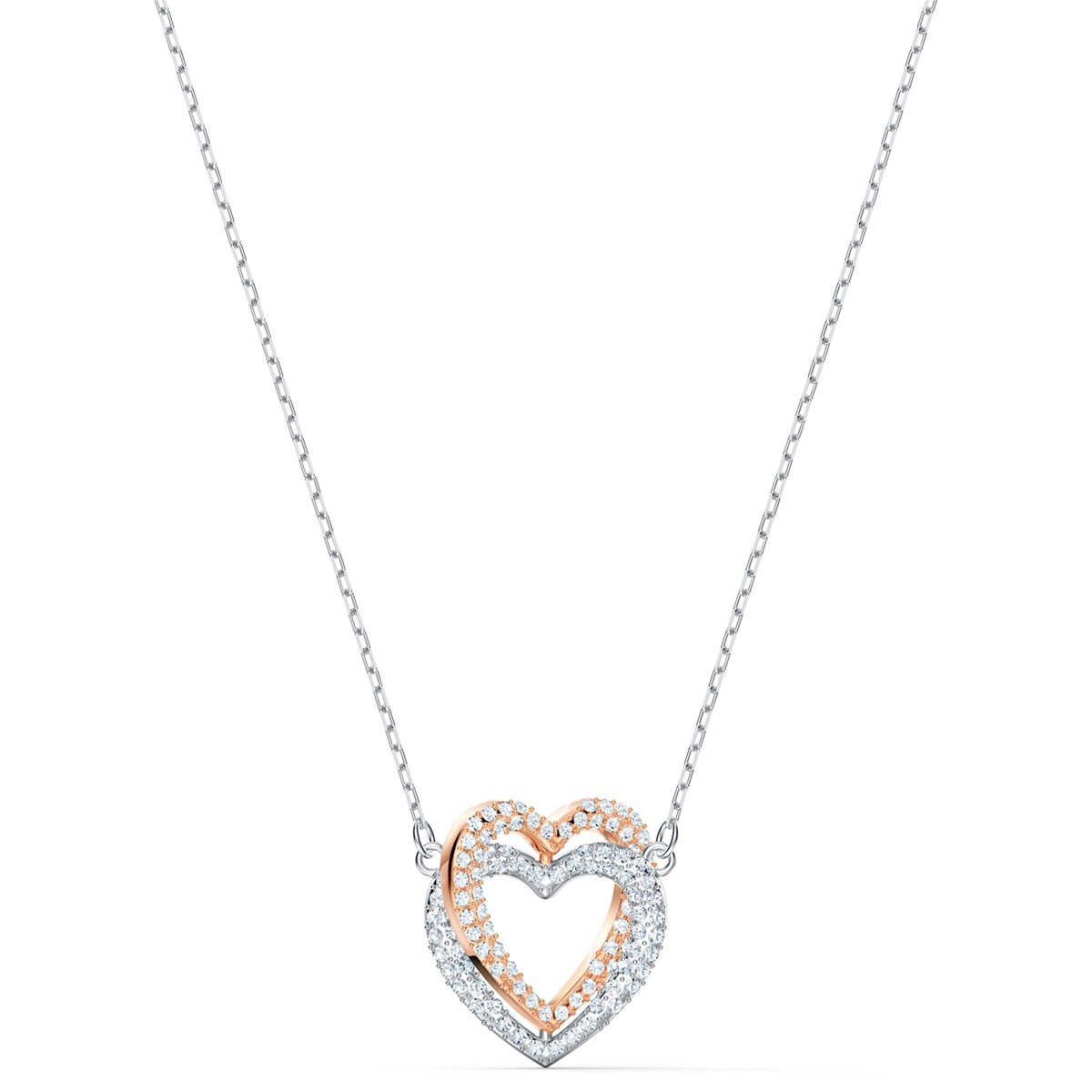 Collier Swarovski Infinity Double Heart