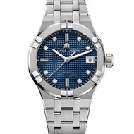 Aikon automatique acier indexes diamants cadran clou de paris bleu 35mm