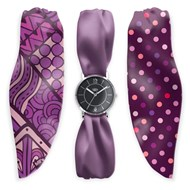 Bill's Watches - Montre femme rubans violets