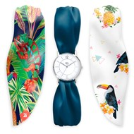 Bill's Watches - Montre femme bracelet ruban Tropical