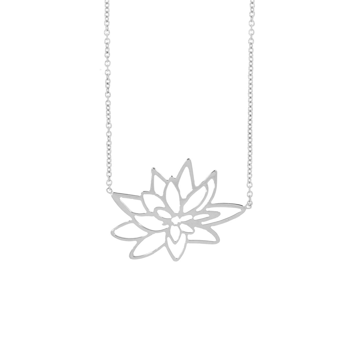 Collier chaîne fleur de lotus or 18 carats - Be Jewels!