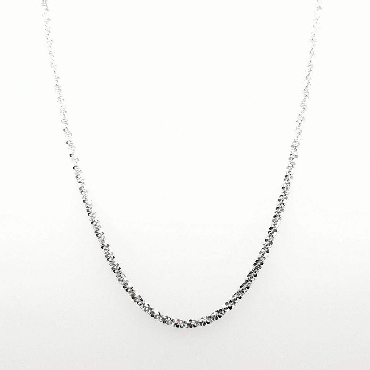 Collier Elden argent 925/1000 1 rang blanc collection Catch the Rainbow