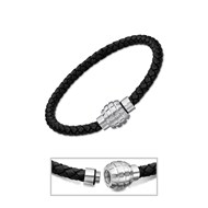 Bracelet homme Lotus Men Basic cuir noir