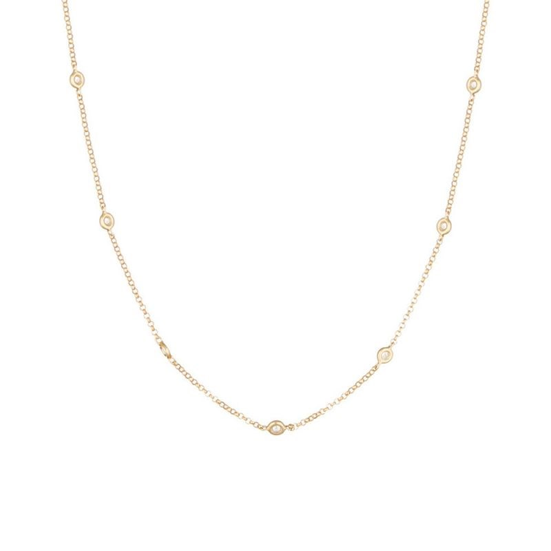 Collier Or Jaune et Diamants 0,22 carat 'SUNSHINE' - vue V1
