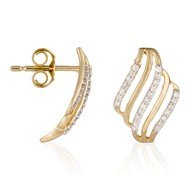Boucles d'oreilles Or Jaune 'FERIEL' Diamants 0,15 carat