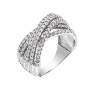 Bague Or Blanc 375 'ENTRELACS SPLENDIDES' Diamants 1 carat