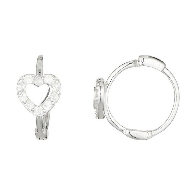 Boucles d'oreille Or Blanc 375 et Diamants - vue V1