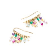 Boucles d'oreilles cuff Gold filled Multicolore Summer Love