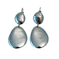 Boucles d'oreilles dormeuses pendantes STONE, Made in France