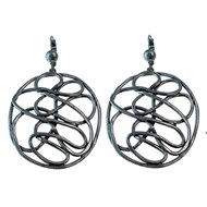 Boucles d'oreilles dormeuse pendantes SPAGHETTI, Made in France