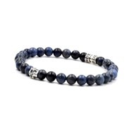 Bracelet skull et deep blue 6 mm