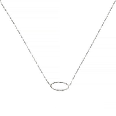 Collier Or Blanc 'EXPRESSION' Diamants 0,1 carat - vue V1