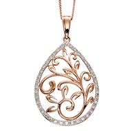 Collier baroque diamant en or rose 375/1000