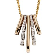 Collier diamant sur or jaune 375/1000
