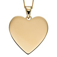 Collier coeur or jaune 375/1000
