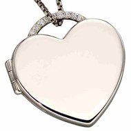 Collier photo coeur en argent 925/1000