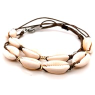 Bracelet Zag double rang coquillages