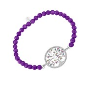 Bracelet Lotus Silver Collection Family Tree amethyste
