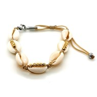 Bracelet coquillages Zag