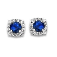 Boucles d'oreilles Braillaxis or saphirs diamants