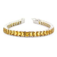 Bracelet ADEN Citrine Forme Rectangle et Argent 925