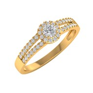 Bague ADEN Or 750 18K Jaune Diamants