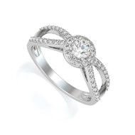 Bague ADEN Or 750 18K Blanc Diamants