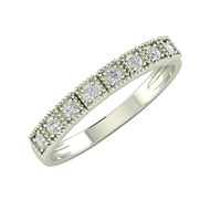 Alliance ADEN Or 750 18K Blanc Diamants