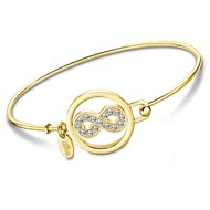 Bracelet jonc Lotus Collection Millennial Infini doré