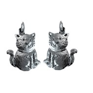 Boucles d'oreille Dormeuses CAT'S DEUS, Made in France