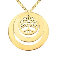 Collier Brillaxis Arbre de Vie Double Ellipses