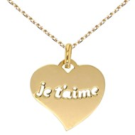 Collier - Pendentif Or Jaune 'Je t'aime'