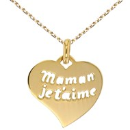 Collier - Pendentif Or Jaune 'Maman Je t'aime'