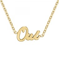 Oui - Collier à message